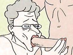 Blowjob, Big Boobs, Granny, Granny