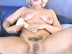 Handjob, Masturbation, Mature, Blonde